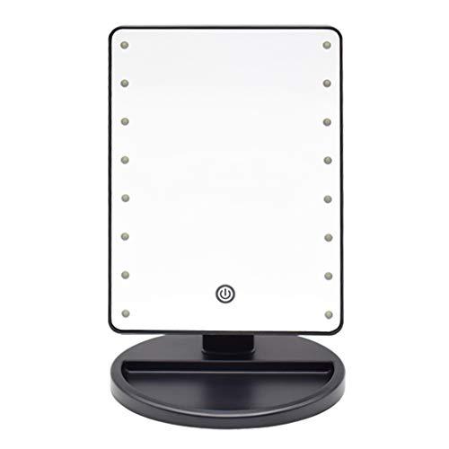 Miroir de maquillage de bureau 16 LED de miroir de maquillage de lumières 360 degrés librement