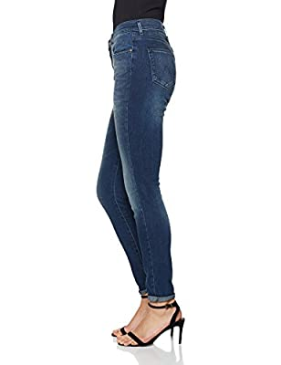 Wrangler Women's High Rise Skinny Vintage Blue Jeans