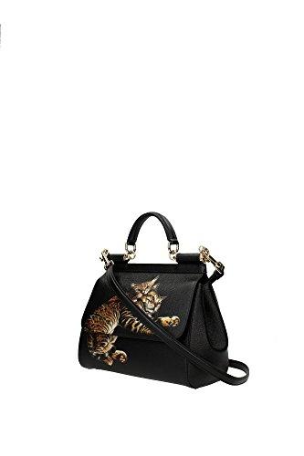 BB6002AC877HN348 Dolce&Gabbana Sac à main Femme Cuir Noir Noir