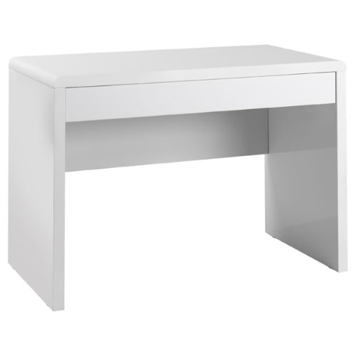 Best Saving for Luxor Desk – Gloss Workstation – Curved Edges, Large Drawer – White Special