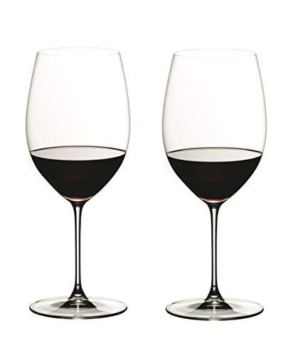 RIEDEL 6449/0 Riedel Veritas Cabernet/Merlot, 2-teiliges Rotweinglas Set, Kristallglas