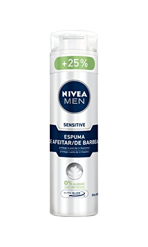 Nivea Men Sensitive Espuma de Afeitar sin Alcohol para Pieles Sensibles - 250 ml