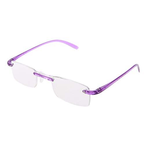 Gute Qualität Unisex Bunt Randlos Flexibel Lesebrille Presbyopie Brille für Herren Damen Dioptrie +1.0 ~ + 4.0
