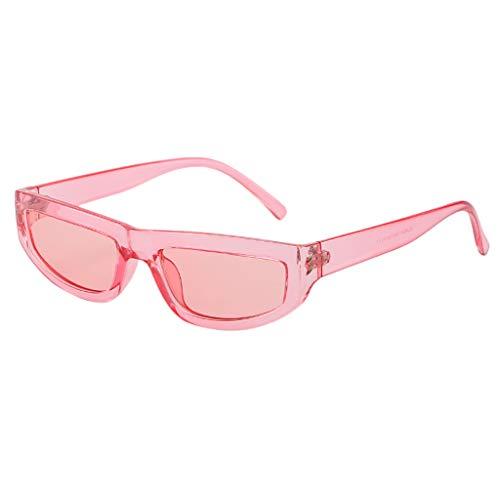 Igemy Vintage Quadratische Sonnenbrille (Rosa)