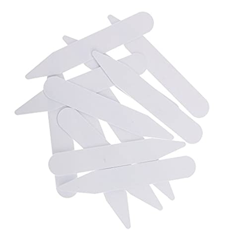 MagiDeal 200 PIECES COLLAR BONES STIFFENERS STAYS INSERTS FOR MEN WOMEN FORMAL DRESS SHIRTS PLASTIC WHITE