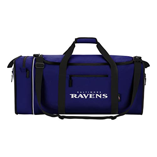 Northwest NFL stehlen Duffel, violett, Measures 28-inches in Length, 11-inches in Width and 12-inches in Height