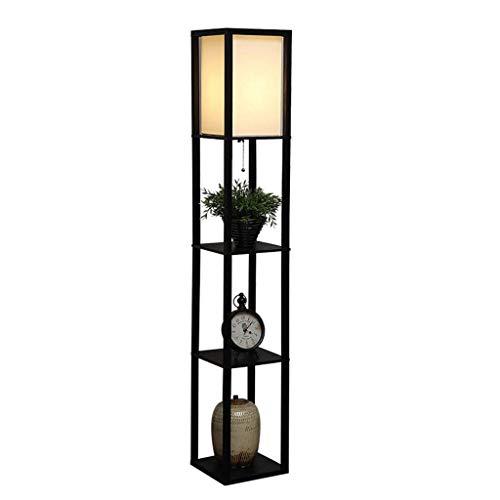 Moderne minimalistische Holz dicken Stoff Lampenschirm Stehlampe Schlafzimmer Wohnzimmer kreative Lagerung vertikale Tischlampe 0527LDD