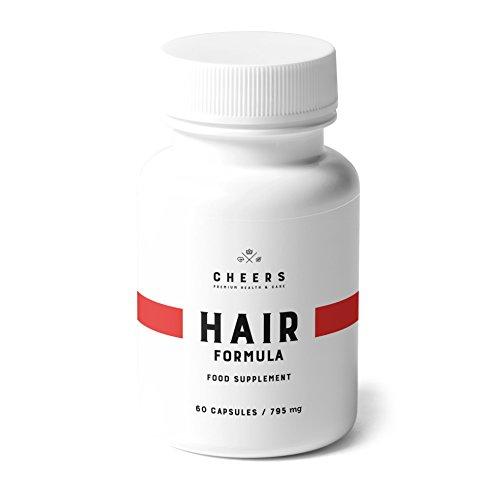 Hair Formula Von Cheers - Natürliches Ergänzungsmittel mit Phosphatidsäure Für 2x Haarwachstum – Bambus, Zinnkraut, & Palmenextrakte für Dickes und Glänzendes Haar - 60 Vegane Kapseln (795 mg)