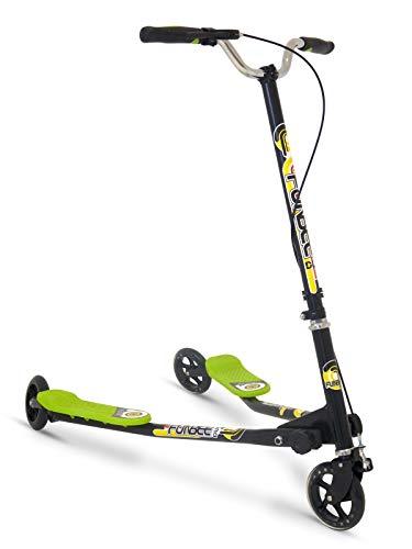 D\'Arpeje - OFUN46 - Kinderfahrrad und -fahrzeug - 3-Rad-Duo-Skate und 2 Plattformen Fußstütze + Lenkerbremse
