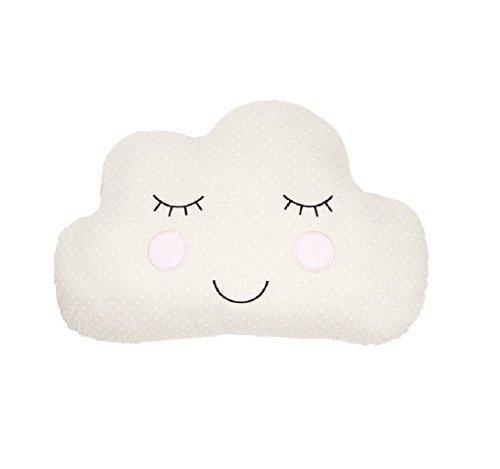 Cojines de guardería para dormitorio infantil Sass & Belle cara de nube/beige