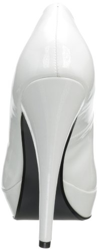 Vernice con tacco Harlow-01 di Pinup Couture High Heels Wht Pat