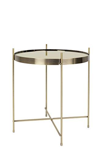 Zuiver Cupid mesa baja cristal, color Dorado, talla M, 43 x 43 x 45 cm