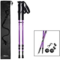 Pair of Trekrite Women's Telescopic Antishock Hiking Sticks/Walking Poles - UK Brand - Purple or Teal