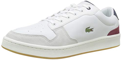 Lacoste Herren Masters Cup 319 1 SMA Sneaker, Weiß (Off Wht/NVY/Dk Red Ond), 40 EU