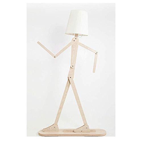 SONG Stehlampe,Einstellbare Haltung,des Hölzernen Modernen Kreativen Beleuchtung Hotelsschlaf Zimmerraumwohn Zimmers Menschliche Standleuchten,Whitewalnut -