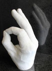 3D Abdruckset Handabdruck für Erwachsene Alginat & Gips (weiß)