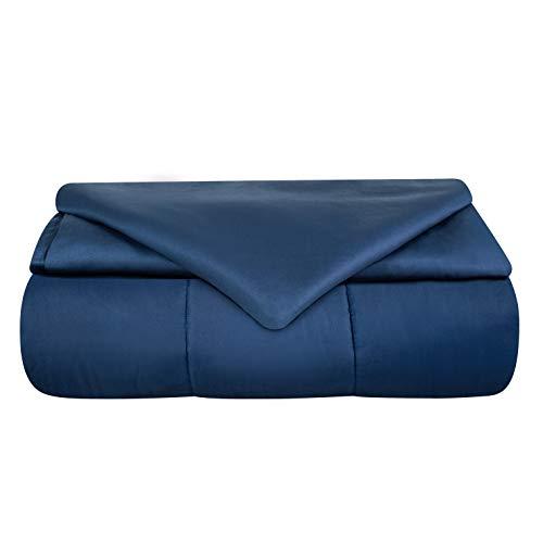 Odyseaco Weighted Blanket Gewichtsdecke Therapiedecke I Besser Schlafen, schwere Decke als Einschlafhilfe Erwachsene Kinder I gewichtete Decke Bettdecke 150 x 200 cm 6.8 kg Blau
