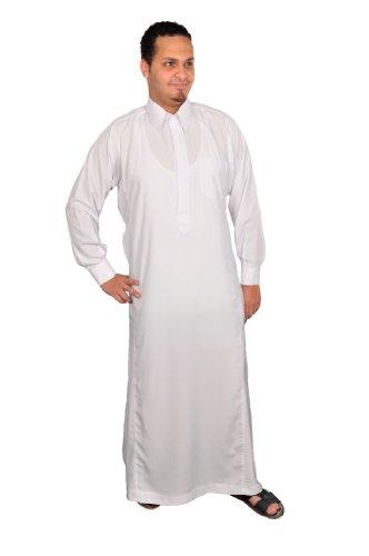 Egypt Bazar Egypt Bazar Herren-Kaftan im Saudi-Stil, weiß (S)
