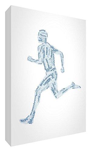 Feel Good Art-SC, da uomo, con scritta a 6-07 lucido/Token/scrivania In Runner-Quadro, motivo tonalità di blu, taglia s