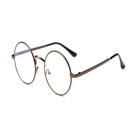 Haodasi Blaues Licht Filter Computer Brille Anti-Strahlung UV Klare Linse Retro Runden Rahmen Brille Unisex