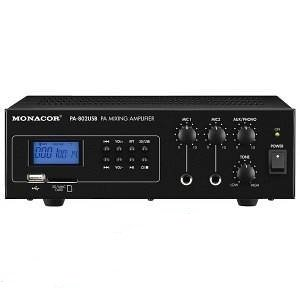 MONACOR IMG PA802USB MIXER AMPLIFICATORE PA MONO CON LETTORE MP3 INTEGRATO