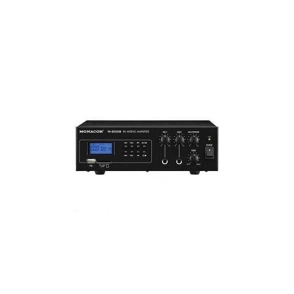MONACOR IMG PA802USB MIXER AMPLIFICATORE PA MONO CON LETTORE MP3 INTEGRATO