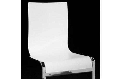 Sedie Bianche E Legno : Designer sedia a sbalzo in legno e acciaio cromato bianche sedie per