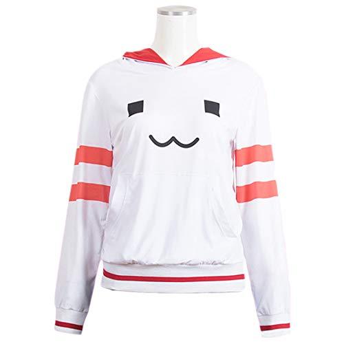 YKJ Anime Cosplay Kostüm Damen Sweatshirt Hoodie Freizeitkleidung Mädchen Daily Sweet Cute Clothing,Jacket with hat-M (Shimakaze Cosplay Kostüm)