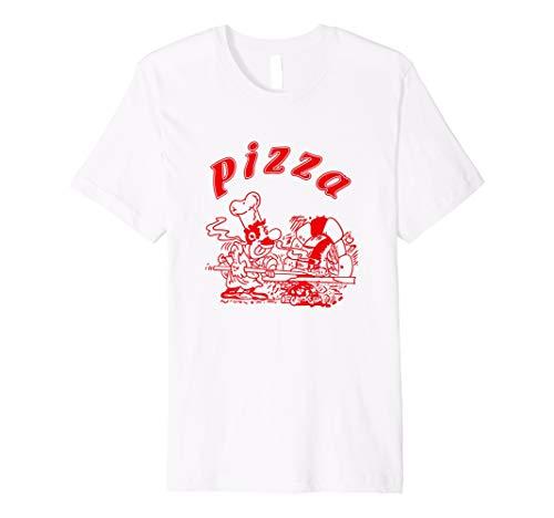 Pizza T-Shirt Logo Pizza Kostüm Italian ()