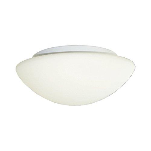 LED-Deckenleuchte aus satiniertem Glas Opalglas mit Bewegungsmelder, runde Glas-Deckenlampe Ø 30 cm Glasschirm weiß klassisch E27, max. 60 Watt LED tauglich Sensor -