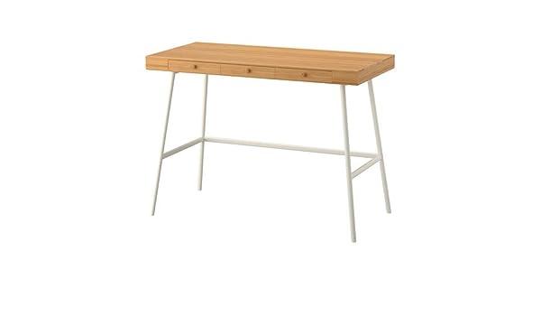 Ikea lillasen bureau en bambou cm amazon cuisine