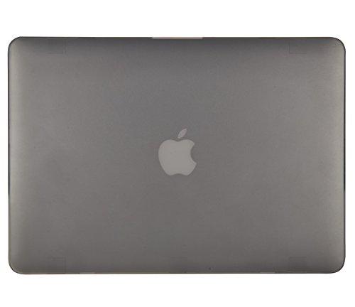 Ultra Sottile Serie Grigio Plastica Case Cover Rigida Copertina con Coperchiodella tastiera in silicone per MacBook Pro 15.4 retina Modello: A1398 Tecool Custodia MacBook Pro 15 pollici retina,