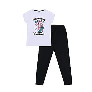 Girls My Unicorn Ate My Homework Cotton Long Pyjamas (9-10 Years)