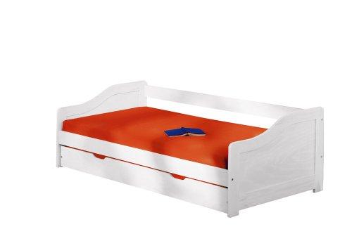 funktionsbett kinderzimmer Inter Link Bett Funktionsbett Bed Kinderbett Kids Bett Einzelbett Bio Echt Holz Weiss lackiert