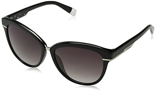 Furla eyewear, occhiali da sole donna, nero (shiny black), 56