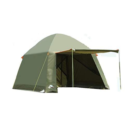 ⛵ Das HWZP Green Outdoor-Zelt mit großem Fassungsvermögen bietet Platz für 2-4 Personen mit wasserdichtem Unisex-Material (Color : 6306220090)