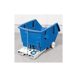 Kippbehälter mit Einfahrtaschen und Radsatz, 750 l
