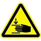 Aufkleber Warnzeichen Warnung vor Handverletzungen 20cm sl Folie