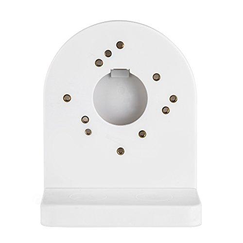 FOSA Universal ABS Kunststoff Dome Kamera Halterung, verstellbare Wand Deckenleuchte-antistatisch-Ständer für Smart Sicherheit CCTV/DVR/IP Kamera Sicherheit Überwachungskamera Halterung, Weiß - Dome Wall Mount