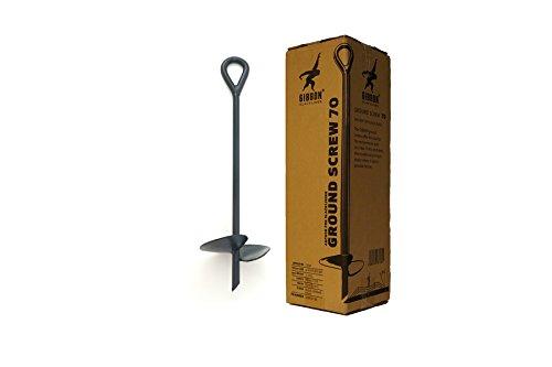 Gibbon Slacklines Ground Screw, Bodenschraube, Erdanker, Länge: 70cm, Tellerbreite: 20cm, Slacklinen ohne Bäume