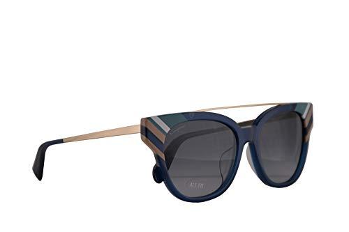 Salvatore ferragamo donne sf882sa occhiali da sole w/grey gradient lens 54 millimetri 421 sf 882sa opalino blu grande