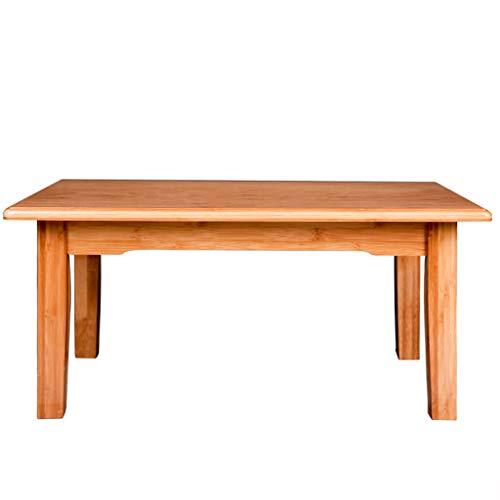 Tables basses Table à thé en Bambou Tatami Petite Mini Chambre Petit Appartement Table (Color : Wood, Size : 60 * 40 * 35cm)