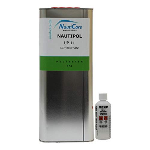 NautiCare NautiPol UP 11 Laminierharz-Set 5,1 kg - Styrolfreies Polyesterharz - Polyester Harz und MEKP Härter -