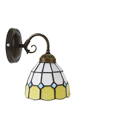 Creative Tiffany Stil Wandleuchte, Europäischen Stil Creative Wandleuchte, Mediterrane Persönlichkeit Einfache Wandlampen, Spiegel Scheinwerfer, Geeignet für Salon, Korridor, BOSS LV -