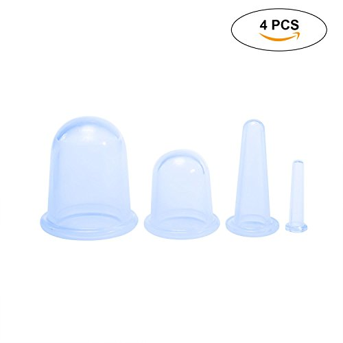 KOBWA Silikon-Schröpfen Therapie-Sets, Anti-Cellulite-Vakuum-Cup, Gesicht Körper Vakuum-Saugnapf Vakuum Kit für Cellulite-Behandlung, Schmerzlinderung oder Anti-Aging - Körper Vakuum