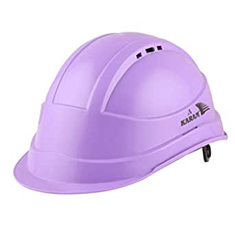 Karam ISI marked Shelblast safety helmet With plastic cradle peak (Ut Violet) PN542
