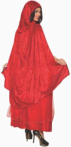 Forum Damen Kostüm Rote Reitkapuze Kostüm Größe Halloween Cosplay Kostüm Umhang Kleid Kleid Kleid - Weiß - Standard