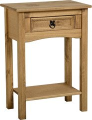 Corona 1 Drawer Console Table-Distressed Mexican Pine