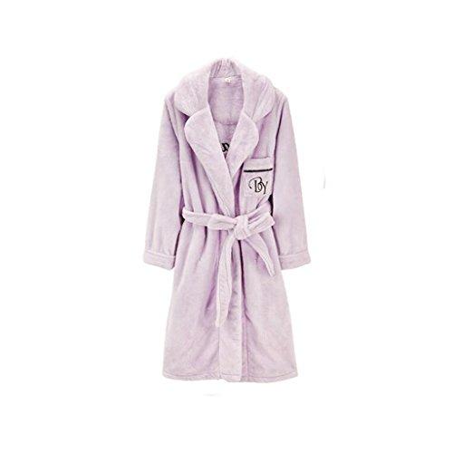 Bathrobe ZLR Lady Autumn Winter Season Nightgown Sleep Rode Thickened Plus Cotton Leisure Ladies