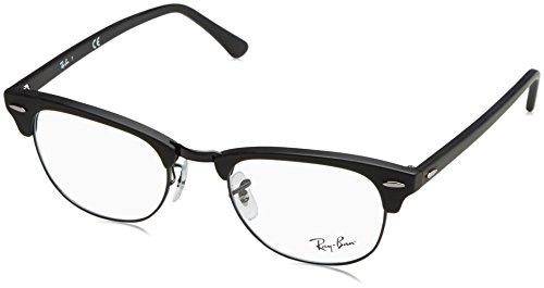 Rayban Unisex-Erwachsene Brillengestell RX5154, Schwarz (Matte Black), 51